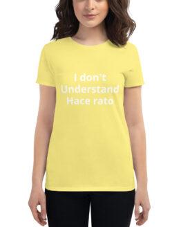 camiseta #I don't understand